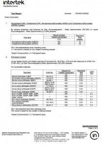 Hot Melt Powder Test Certification-3