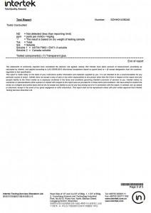 Hot Melt Powder Test Certification-5